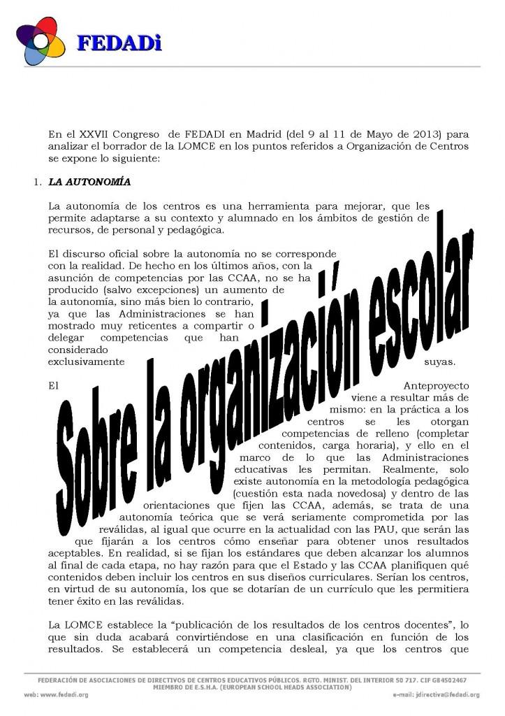 LA ORGANIZACION ESCOLAR_FEDADI