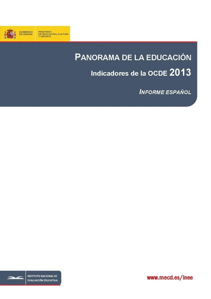 Panorama de la Educacion. OCDE_2013